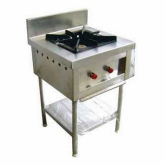 single commercial gas stove