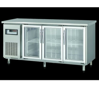 3 undercounter refrigerator with glass door