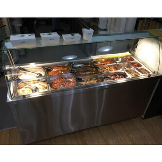 Bain marie counter images galleries for Cuisson four bain marie