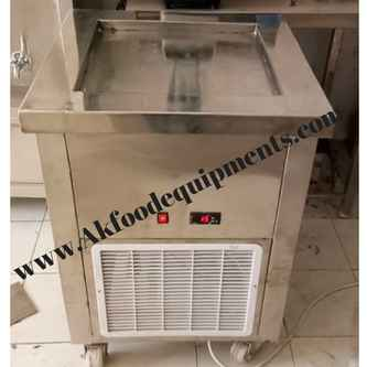 thai ice cream roll machine manufacturers in delhi single fried ice cream machine